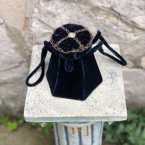 Vintage velvet bucket purse